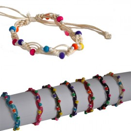 D-129-2E -Lot de 50 Bracelets Perles  Reconditionné