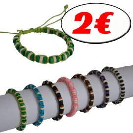 D-127-2E -Lot de 50 Bracelets Perles Reconditionné