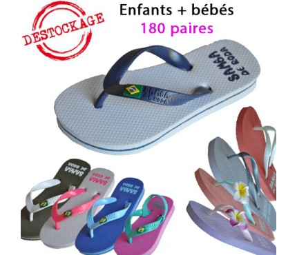 Destockage 180p de tongs Samba de Roda Enfant uniquement