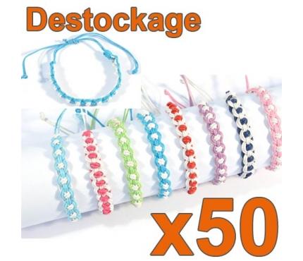D-146 - Lot de 50 Bracelets ENFANT réglables - Déstockage
